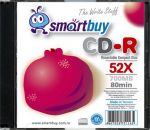 Диск Smartbuy CD-R 80min 52x Slim